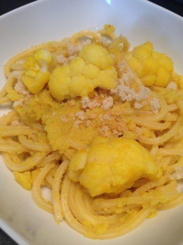 Spaghetti al pesto di cavolfiore e zafferano