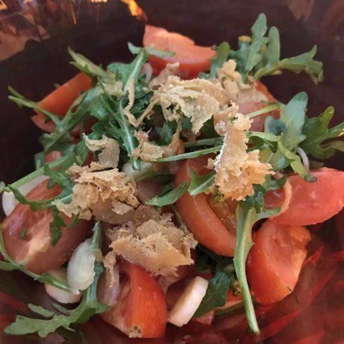 Condiglione di pomodori rucola e bottarga