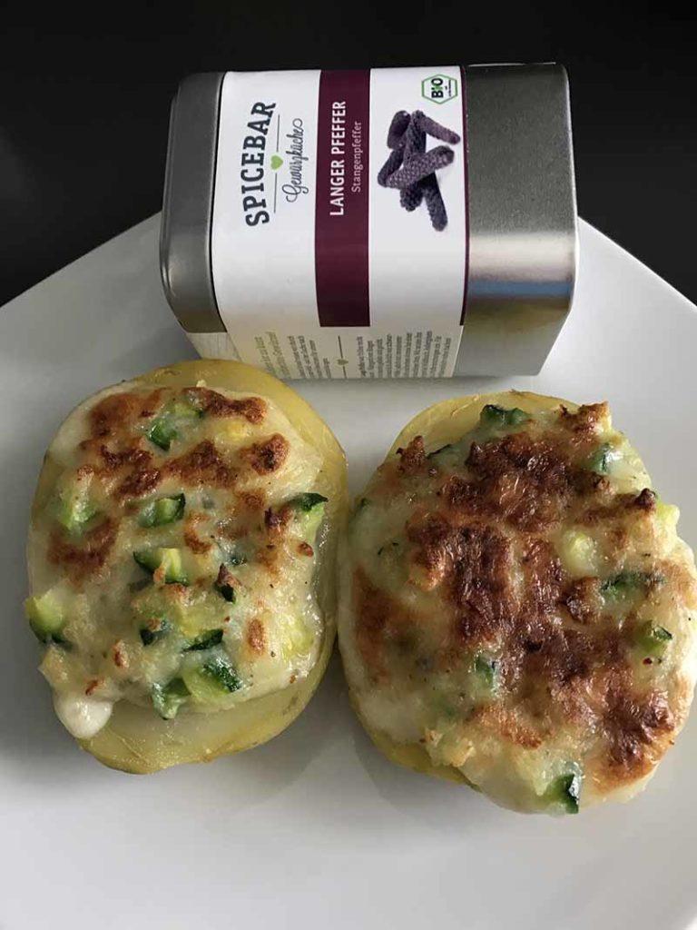 Patate al gorgonzola e zucchine