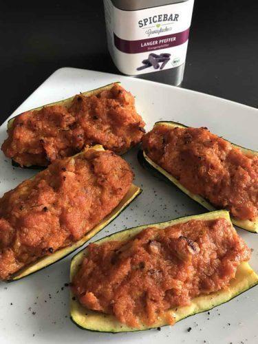 Zucchine ripiene al tonno con pepe lungo Spicebar