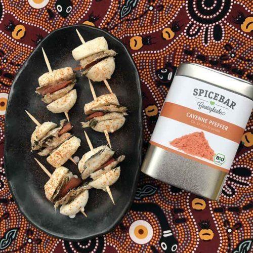Mozzarelline alle sarde con pepe di Cayenna di Spicebar