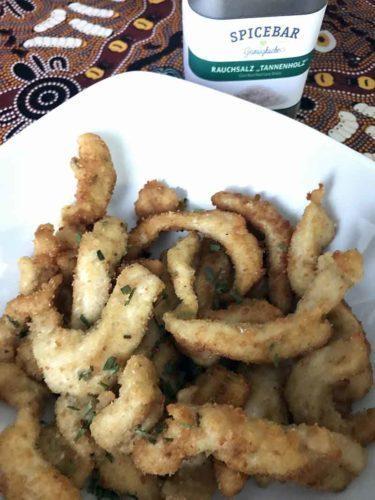 Petto di pollo fritto con erbe aromatiche e sale affumicato Spicebar