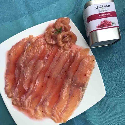 Salmone con sale ai lamponi di Spicebar
