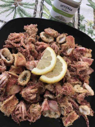 Totanetti gratinati al forno con sale al lime di Spicebar