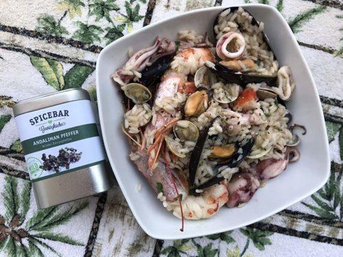 Risotto ai frutti di mare con pepe Andaliman di Spicebar