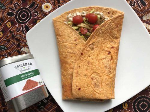 Tortillas speziate con trombette e champignon