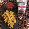 Stick di polenta al forno con salsa rossa