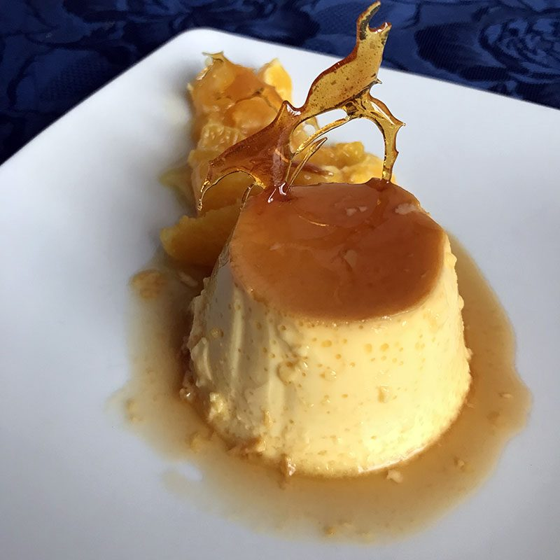 Crème caramel profumato all'arancia