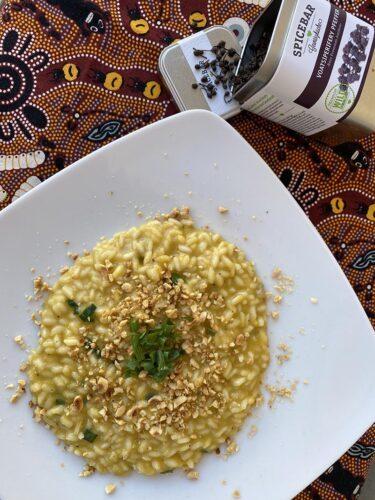 Risotto con zucca taleggio e cipolla egiziana